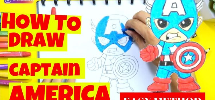 How to Draw Baby Captain America | Child Education